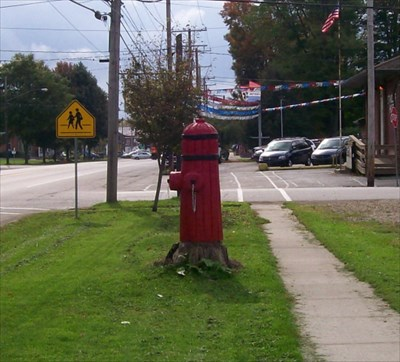 Fireman Pic 4 - Nearby Fire Hydrant Sculpture