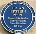 Image for Brian Epstein Blue Plaque - Argyll Street, London, UK