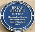 Image for Brian Epstein Blue Plaque - Argyll Street, London, UK