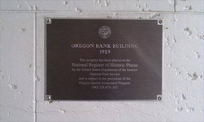 Picture of plaque recognizing it in the National Register of Historic Places.