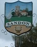 Image for Village Sign, Sandon, Herts, UK