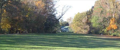 The field in front of the house has been used as a golf course and a landing strip for small planes.