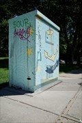 Image for HOPE painted utility box by Allie Surdovel - Providence, Rhode Island