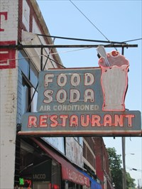 Pane 4 - Sign Outside, Elliston Place Soda Shop, Nashville, Tennessee