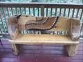 Image for Eagle Carved Log Bench - Eureka Springs AR