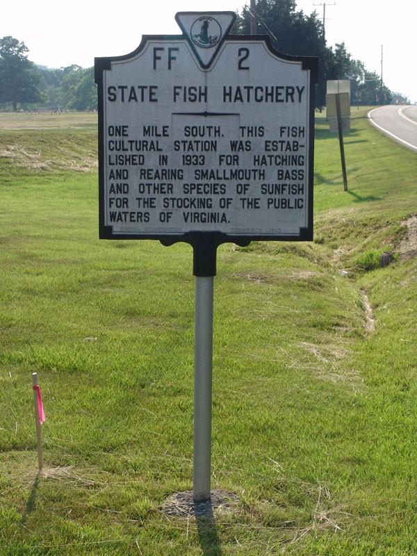 State fish hatchery virginia historical markers on for Virginia fish hatchery