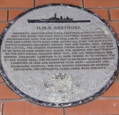 HMS Arethusa - Historic Marker - Swansea