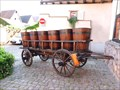 Image for Old wine wagon with wine cradles, Eguishein - Alsace / France
