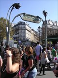 Image for Guimard Entrance Station de Metro Anvers - Paris, France