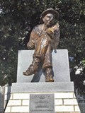 Image for Fiddler statue on courthouse square needs repairs - Athens, TX