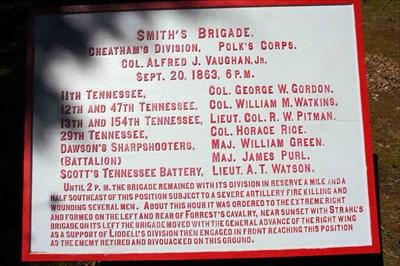 Smith's Brigade Plaque - Chickamauga National Battlefield