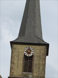 Image for Clock on the tower of St. Marien Kirche - Markt Bibart, Germany