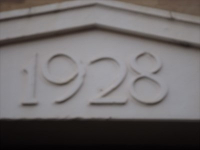 A close-up of the Date (Year)