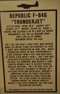 "Image for First Flight of F-84 ""Thunderjet"" Jet Fighter"