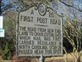 Image for First Post Road -- Edenton NC
