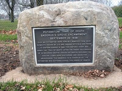 Potawatomi Trail of Death - Sadorus, IL - Trail of Tears on