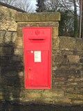 Image for Victorian Wall Post Box in Haworth, West Yorkshire, UK