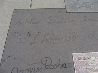 At Graumman's Chinese Theater in Hollywood.