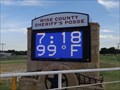 Image for Wise County Sheriff's Posse Time and Temperature Sign - Decatur, TX