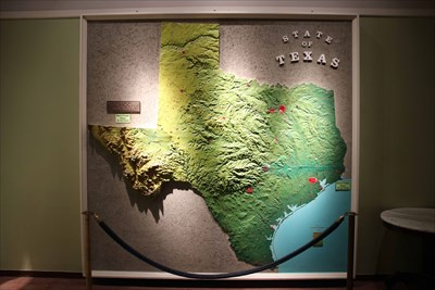 Relief Topographical Map of Texas -- Texas Memorial Museum ...