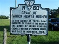 Image for Grave of Patrick Henry's Mother