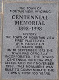 Image for Mountain View Centennial 1998 - Town Hall - Mountain View, Wyoming