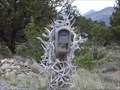 Image for Mailbox Decorated with Antlers