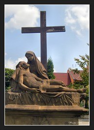 The Cross with Pieta statuary - Podebrady