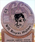 Image for Will Rogers Highway Marker - Route 66 - Hydro, Oklahoma, USA.