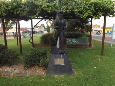 The statue in Rotary Park, Kurri Kurri, NSW