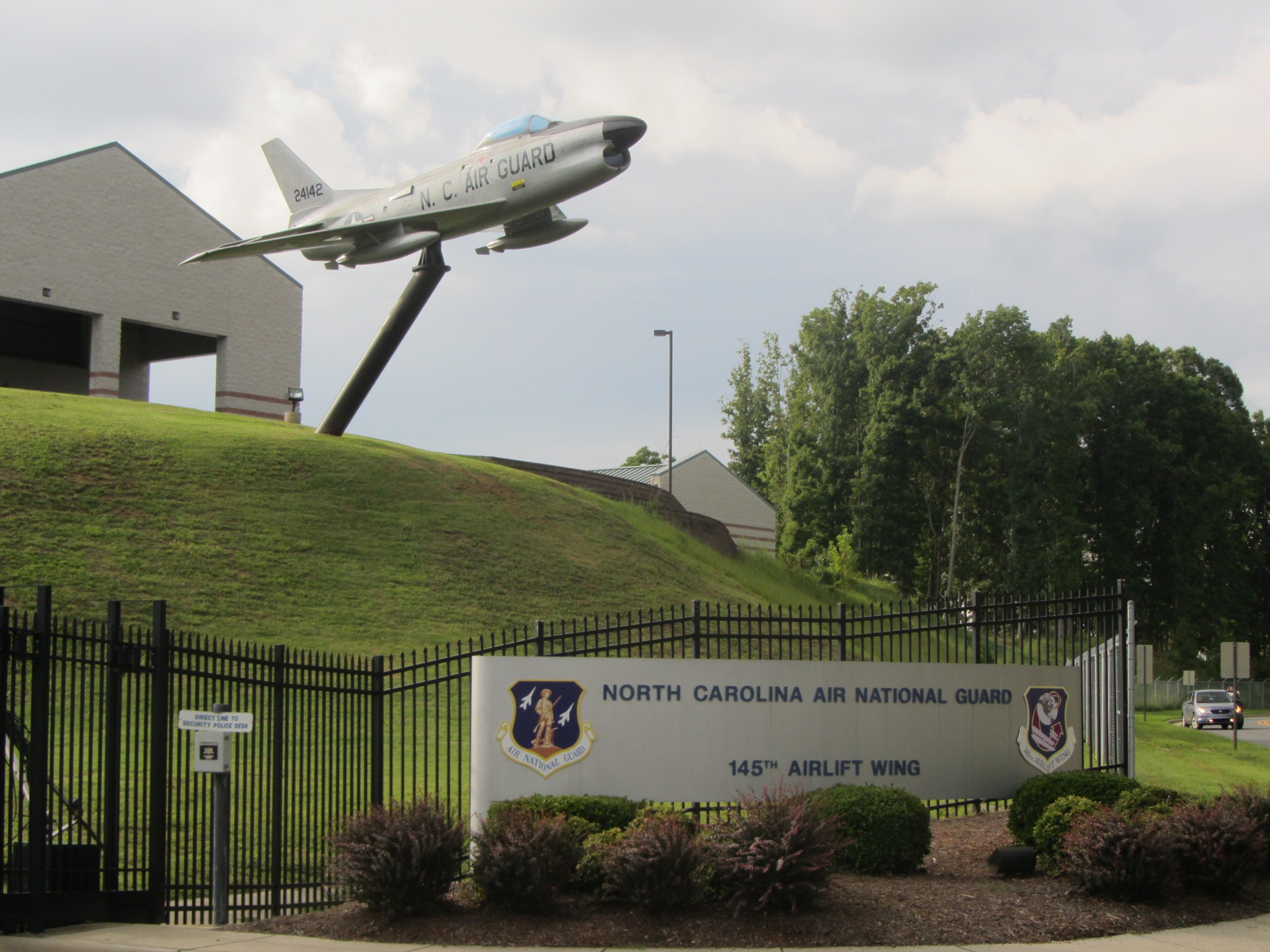 F-86 over the sign