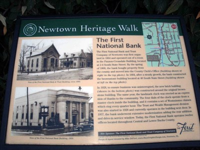 the first national bank and trust of newtown