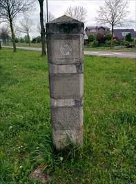 replica Roman milestone - Wijk bij Duurstede - The Netherlands