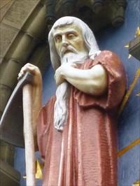 Saturn - Roman God - Cardiff, Wales. - Statues of ...