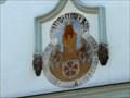 Image for Mesto Trhové Sviny ve štítu staré radnici - Trhové Sviny, okres Ceské Budejovice, CZ