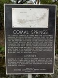 Image for Comal Springs History - New Braunfels, TX USA