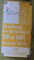 Image for UTM  0372223 / 5603497 - Ahrweilerweg - Remagen, RP, Germany