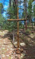 Image for Cross at the open air chapel, Kohl's Ranch - Star Valley, AZ