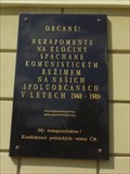 Image for Pametní deska politickým veznum - Terezín, Czech Republic