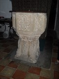 Image for Font, Church of St.Andrew, Wickham Skeith, Suffolk. IP14 4HX.