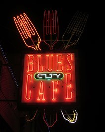 Blue's city Cafe - Neon - Memphis