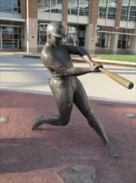 Image result for Frank Robinson statue Great american Ballpark Cincinnati