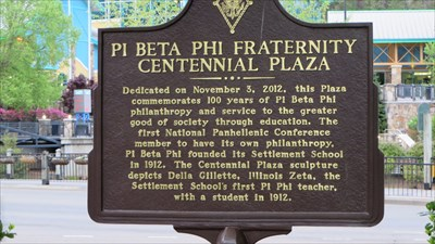 veritas vita visited Pi Beta Phi Centennial Plaza Bricks