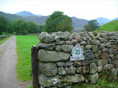 with Scafell hills behind.