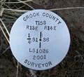 Image for T15S R13E S1 R14E S6 1/4 COR - Crook County, OR