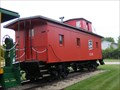 Image for Red Wooden caboose - New London, WI