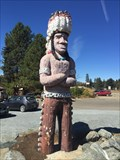 Image for Carved Indian Chief - Laytonville, California
