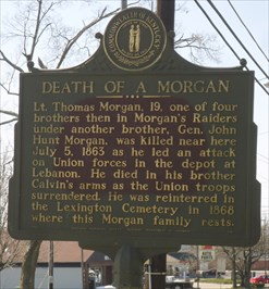 death of a morgan kentucky historical markers on waymarking com