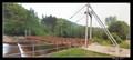 Image for Suspension foot bridge accross the Jizera river, Benešov u Semil, Czech Republic