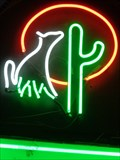 Image for Cat & Cactus -  Neon - Barstow, California, USA.